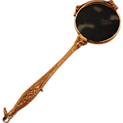 Elegant Victorian 14k Gold-Plated Lorgnette Working Mechanism