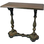 Vintage Walnut Library Table by Imperial Furniture Company