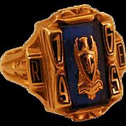 1965 10k Gold B.C. High Class Ring