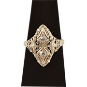 ca 1920s 18K Gold and Diamonds Ring