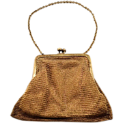WWII US Zone Germany Chain Mesh Handbag with Rhinestone Clasp