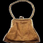 WWII US Zone Germany Chain Mesh Handbag with Rhinestone Clasp