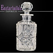Antique American Brilliant Cut Glass Scent Bottle