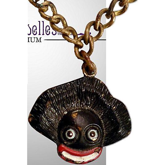 Vintage Rare Vigny Golliwog Quot Good Luck Quot Charm Bracelet