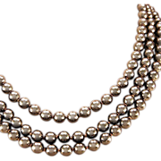 Kenneth Jay Lane Gold-tone and Knotted Faux Pearl Necklace