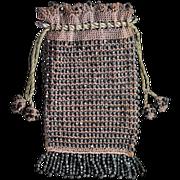 Antique Victorian Beaded Handbag, Late 1800s