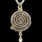 OOAK Davison Sterling Silver and Swarovski Necklace