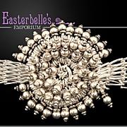 OOAK Intricate Davison Artisan Heavy Sterling Silver .925 Bracelet