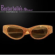 "SALE PENDING Rhinestone Heavily Embellished  ""May USA""  ca 60's Sunglasses - Beautie"