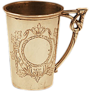 SOLD Exquisite German .800 Silver Cup 65 gms Heavily Hallmarked & Detailed