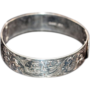 ca 1947 Collectible Chester Hallmarked Sterling Silver Bracelet