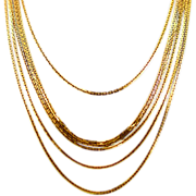 Sexy Trifari Six-Strand Timeless Style Goldtone Chain Necklace