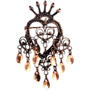 Lovely Vintage Solje Sterling Silver Finn Jensen Wedding Brooch