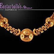 Beautiful Brookraft Necklace with Dramatic Rhinestone Centerpiece