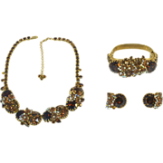 Showstopping Alice Caviness Parure with Necklace, Earrings, and Bracelet