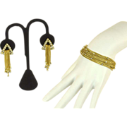 Elegant Alice Caviness Parure with Bracelet and Earrings
