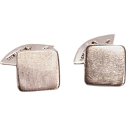 Chic, Classic .925 Sterling Silver Vintage Espinosa Cufflinks