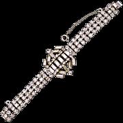 Vintage Weiss Rhinestone Baguette Bracelet