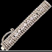 Vintage Weiss Five Row Rhinestone Bracelet