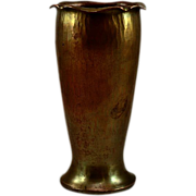 Beautiful ca 1905-1910 Roycroft Copper Curly Top Vase