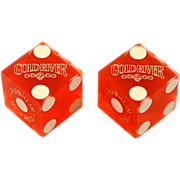 Cool Red Vintage Gaming Dice from Laughlin's Gold River Casino