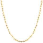 Vintage 34-Inch String of 6 mm Cultured Pearls 14K Gold Clasp