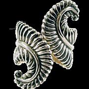Showstopper Vintage Taxco Sterling Silver .925 Clamper Bracelet