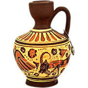 Vintage Greek Korinthian Oinochoe Reproduction Vase