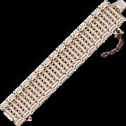 Stunning Sparkly Weiss 7-Row Wide Rhinestone Bracelet
