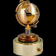 SALE PENDING Unique Vintage Globe Lighter with Original Music Box Base