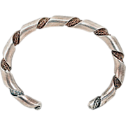 Hefty Sterling Silver Twisted-Rope Cuff Bracelet