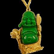 "Big, Bold Happy ""Ho Tai"" Buddha Vintage Lucite Pendant"