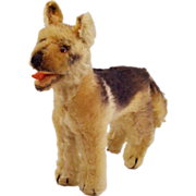 "Adorable Vintage Steiff Mohair German Shepherd ""Arco"" (1957-1958)"