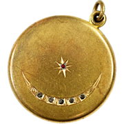 Lovely Antique 9k Gold Plated Locket