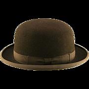 Vintage Resistol Felt Derby/Bowler Hat Mint!