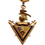 Incredible Knights of Pythias Watch Fob With Solid Gold Chain