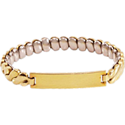"Darling Vintage 10K Gold-Fill ""Sweetheart"" Bracelet"