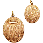 Vintage Lovable Locket With Hand-Hammered Design and 9K Gold-Fill