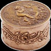 Charming Antique German .800 Silver Pill Box