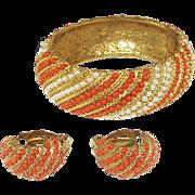 Glamorous Oscar de la Renta Bracelet and Earrings Set