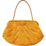 ca 1960's Saks Fifth Avenue Beaded Handbag - Absolutely Adorable!