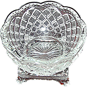 SOLD Open salt in a diamond variation pattern, 19th c. perfect