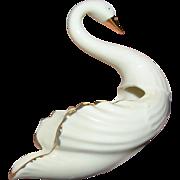 SALE Vintage Lenox Swan creamware vase