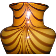 SALE Tall cased glass vase in butterscotch color for floral arrangements