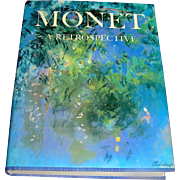 SOLD Book: Monet, A Retrospective, brilliant rich color plates, large coffee table size, spend