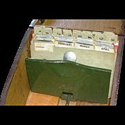 SALE Vintage Mahogany Recipe Box with index