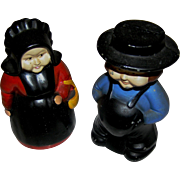 SALE PAIR of vintage still banks of an Amish man and lady. Very good to ...