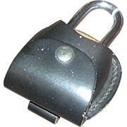 "SALE Lock, bike- heavy duty Barjan, 4"" x 2.5"" with leather case"