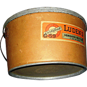 REDUCED Advertising Store Container, vintage, Verigood, Luden's Candies, durable heavy duty ca