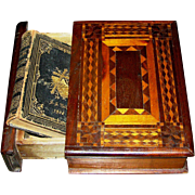 Folk Art Bible Box, circa 1900, VG. all original out of Amish Country Lancaster Valley PA, Ger